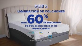 Sears Liquidación de Fin de Año de Colchones TV Spot, 'Las mejores marcas' - Thumbnail 3