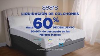Sears Liquidación de Fin de Año de Colchones TV Spot, 'Las mejores marcas' - Thumbnail 4