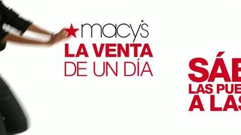 Macy's La Venta de Un Día TV Spot, 'Sábado de ahorros' [Spanish] - Thumbnail 2