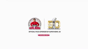 Papa John's TV Spot, 'Super Bowl 50' Feat. Peyton Manning, J.J. Watt - Thumbnail 6