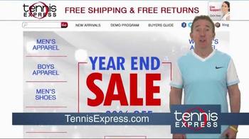Tennis Express Year End Sale TV Spot, 'Shoes, Racquets & Apparel' - Thumbnail 1