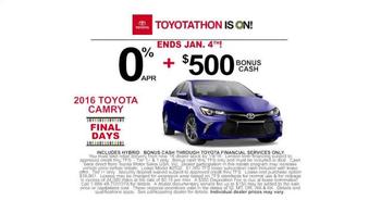 Toyota Toyotathon TV Spot, 'Final Days: 2016 Camry' - Thumbnail 5