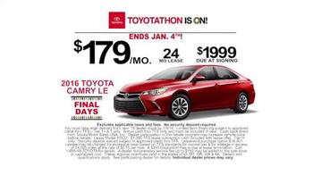 Toyota Toyotathon TV Spot, 'Final Days: 2016 Camry' - Thumbnail 6