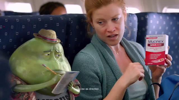 Mucinex Sinus-Max TV Spot, \'Airplane\'