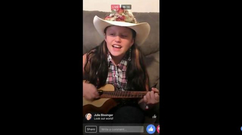 Facebook Live TV Spot, 'Singing Girl'