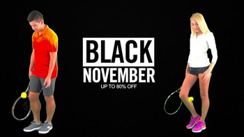 Tennis Express Black November TV Spot, 'New Rackets' - Thumbnail 1