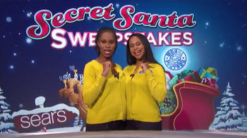 Sears Secret Santa Sweepstakes TV Spot, 'Wheel of Fortune: Could Be Yours' - Thumbnail 3