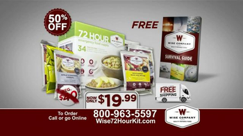Wise Company 72-Hour Emergency Food Supply Kit TV Spot, 'Unpredictable' - Thumbnail 10
