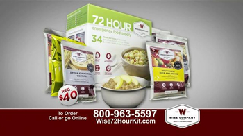 Wise Company 72-Hour Emergency Food Supply Kit TV Spot, 'Unpredictable' - Thumbnail 5