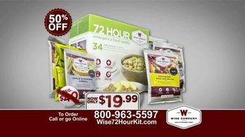 Wise Company 72-Hour Emergency Food Supply Kit TV Spot, 'Unpredictable' - Thumbnail 9