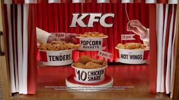 KFC $10 Chicken Share TV Spot, 'Para todos' [Spanish] - Thumbnail 7