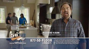 50 Floor 60% Off Sale TV Spot, 'Save Time & Money' Featuring Richard Karn