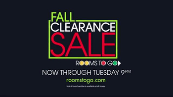 Rooms to Go Fall Clearance Sale TV Spot, 'Time Is Ticking'