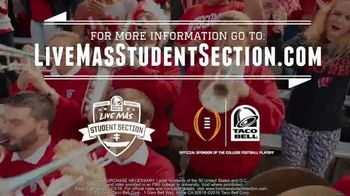 Taco Bell TV Spot, '2016 College Football: Live Mas Student Section' - Thumbnail 8