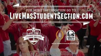 Taco Bell TV Spot, '2016 College Football: Live Mas Student Section' - Thumbnail 9