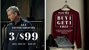 JoS. A. Bank Great Sweater Gift Sale TV Spot, 'Warm Up' - 577 commercial airings