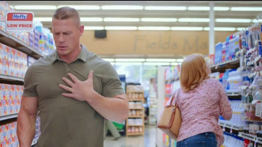 Hefty Ultra Strong Tv Commercial Becoming Cena Feat