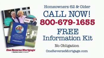 One Reverse Mortgage TV Spot, 'Judy & Mike'