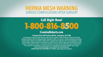 Crumley Roberts TV Spot, 'Hernia Mesh Warning' - Thumbnail 10