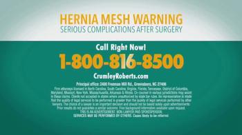 Crumley Roberts TV Spot, 'Hernia Mesh Warning' - Thumbnail 9