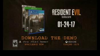 Resident Evil 7: Biohazard TV Spot, 'Help'