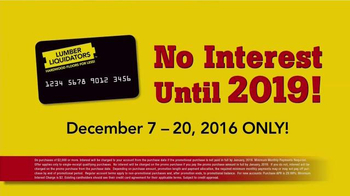 Lumber Liquidators Home for the Holidays TV Spot, 'Buy More, Save More' - Thumbnail 6