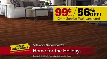 Lumber Liquidators Home for the Holidays TV Spot, 'Buy More, Save More' - Thumbnail 5