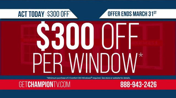 Champion Windows TV Spot, 'Uncomfortable in Your Home?' - Thumbnail 7