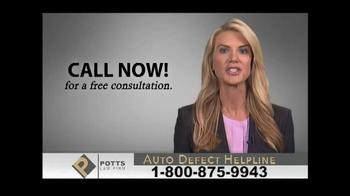 Potts Law Firm TV Spot, 'Auto Defect Helpline' - Thumbnail 7