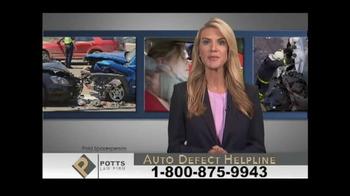 Potts Law Firm TV Spot, 'Auto Defect Helpline' - Thumbnail 1