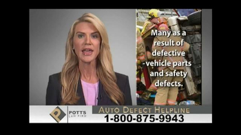 Potts Law Firm TV Spot, 'Auto Defect Helpline' - Thumbnail 3
