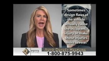 Potts Law Firm TV Spot, 'Auto Defect Helpline' - Thumbnail 4