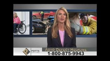Potts Law Firm TV Spot, 'Auto Defect Helpline' - Thumbnail 5