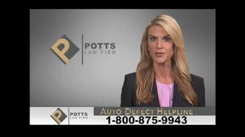 Potts Law Firm TV Spot, 'Auto Defect Helpline' - Thumbnail 6