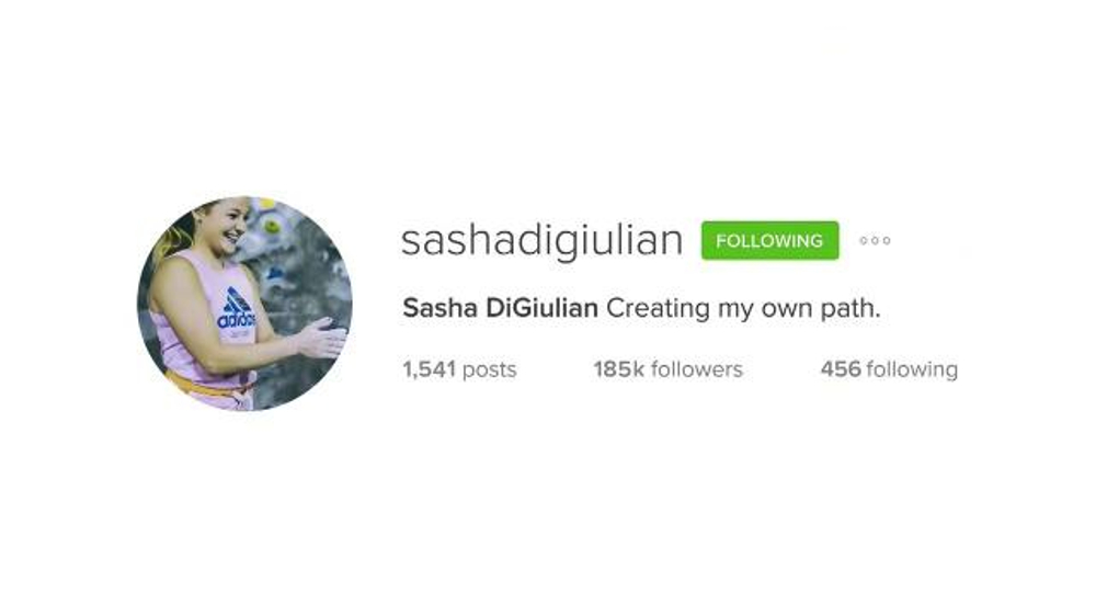 adidas TV Commercial, 'Here to Create: Sasha DiGiulian'