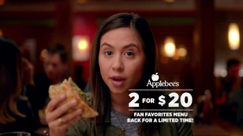 Applebee's Quesadilla Burger TV Spot, 'Mind Blown' - Thumbnail 1