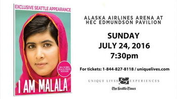 Unique Lives TV Spot, 'I Am Malala: Alaska Airlines Arena'
