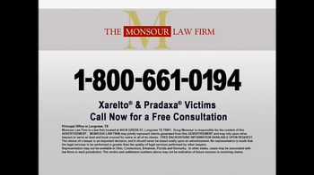 The Monsour Law Firm TV Spot, 'Xarelto and Pradaxa Users' - Thumbnail 5
