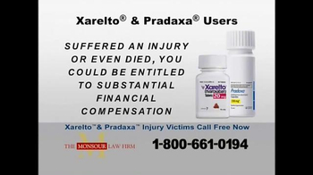 The Monsour Law Firm TV Spot, 'Xarelto and Pradaxa Users'