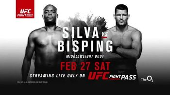 UFC Fight Pass TV Spot, 'Silva vs Bisping: Legendary Lives On' - 2 commercial airings