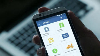 GEICO Mobile App TV Spot, 'Hack Attack: Oddly Appropriate Segues' - Thumbnail 4