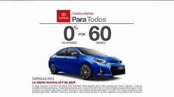 Toyota Evento de Ventas Para Todos TV Spot, 'Carro azul' [Spanish] - Thumbnail 7