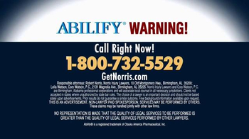 Norris Injury Lawyers TV Spot, 'Abilify' - Thumbnail 5