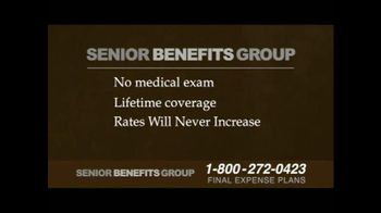 Senior Benefits Group TV Spot, 'Final Expense Plans' - Thumbnail 7