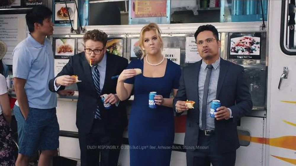Bud light tv commercialfood truck ft seth rogen amy schumer and bud light tv commercialfood truck ft seth rogen amy schumer and michael pena ispot mozeypictures Choice Image