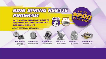 Yukon Gear & Axle 2016 Spring Rebate Program TV Spot, 'Hubs and Lockers' - Thumbnail 1