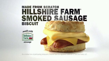 Carl's Jr. Hillshire Farm Smoked Sausage Biscuit TV Spot, 'Golden Brown' - 882 commercial airings
