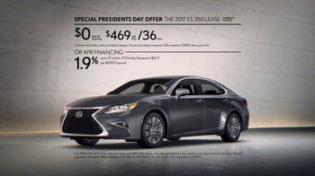 Lexus Special Presidents Day Offer TV Spot, '2017 ES 350: Spoil Yourself' [T2] - 46 commercial airings