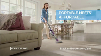 Black & Decker 2-IN-1 Stick & Hand Vacuum TV Spot, 'Clean Smarter'