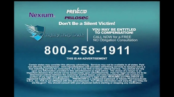 Injury Help Desk TV Spot, 'Heartburn Drugs' - Thumbnail 8